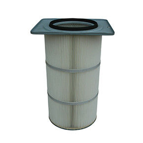 Square End Cap Filter Cartridge , Polyester Filter Cartridge Closed Bottom