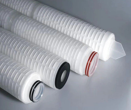 0.1um 10'' 20'' Pleated Filter Cartridge Hydrophobic PTFE Membrane