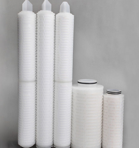 Pharmaceutical Ptfe Air Filter / 0.1-3 Um Pleated Polypropylene Filter Cartridge