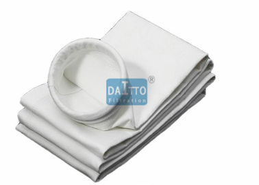 China Chemical Polypropylene Filter Bags , Industrial Dust Collector Bags 1.8 - 2.6mm Thickness factory
