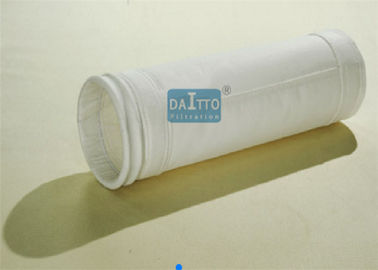 China 120 - 300mm Diameter Industrial Filter Bags Polyester / Acrylic Needle Felt factory