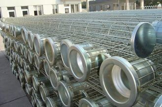 Spray Coating Baghouse Cages Carbon Steel / SS Material In Filtration Equipment